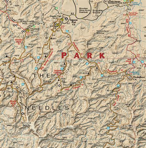 map of moab moab west trails utah recreation topo map latitude 40