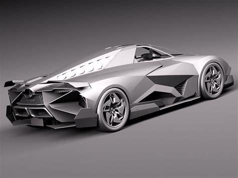 concept lamborghini egoista lamborghini egoista concept 2013 3d model max obj 3ds fbx