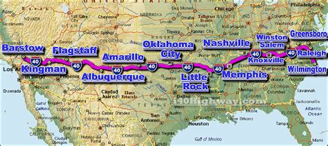 map of the us highway 40 i 40 traffic maps