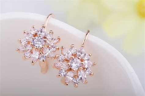 Anting Silver Pasir Model 4 anting wanita zircon gold chagne gold