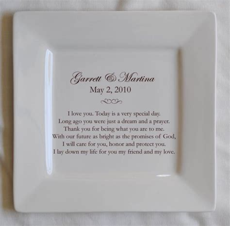 Personalizing Your Wedding Vows by Personalized Wedding Vows Platter 60 00 Via Etsy