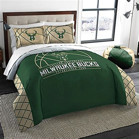 bed bath and beyond milwaukee buy nba milwaukee bucks full queen comforter set from bed