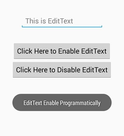 enable disable edittext input android programmatically