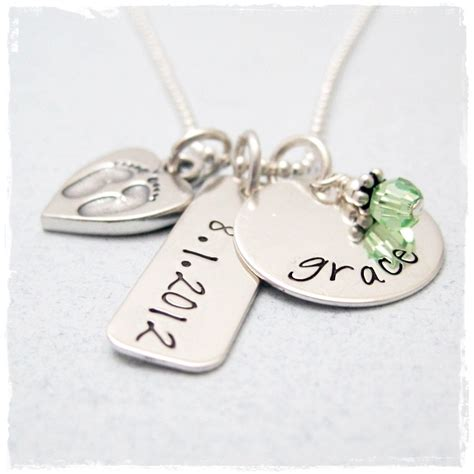 new mother charm necklace personalized new necklace with baby charm