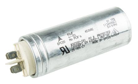 capacitor ac epcos b32332i6406j081 epcos 40μf polypropylene capacitor pp 450v ac 177 5 tolerance b32332 series epcos