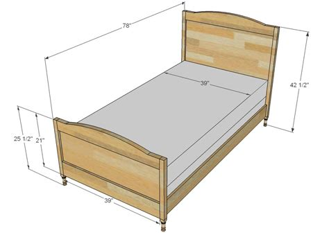 dimensions of a twin bed frame twin bed frame dimensions twin size bed frame dimensions