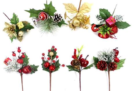 christmas floral picks wholesale from china