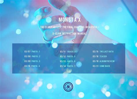 Murah Monsta X The Clan Part 2 Ver update monsta x releases comeback schedule for quot the clan