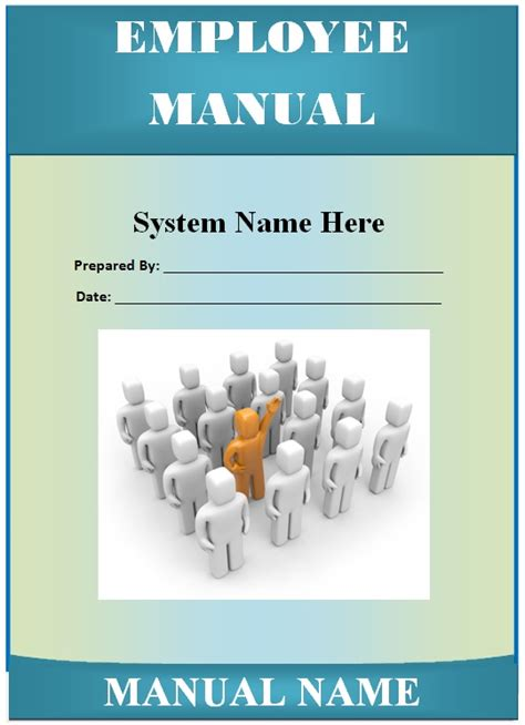 employee manual template guide help steps