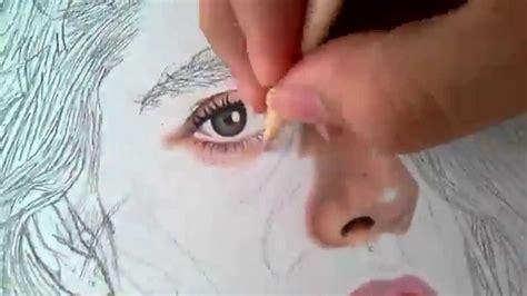 Dibujos Realistas Con Colores | dibujo realista con lapices de colores youtube