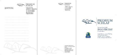 Visitenkarten Auf Rechnung by Briefpapier Visitenkarte Rechnung Quittu