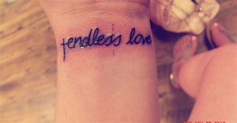 endless love tattoo cross with quot endless quot d up
