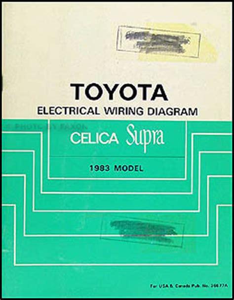 book repair manual 1983 toyota celica engine control 1982 1986 toyota celica and supra body collision manual no 36182e