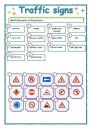 intermediate esl worksheets traffic signs
