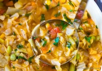Vegetarian Cabbage Detox Soup by 7 Day Soup Detox Detox Diet Soups Chefdehome