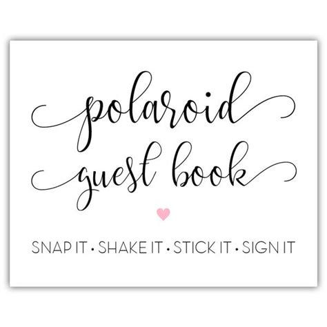 Polaroid Guest Book Sign Dazzling Daisies Polaroid Guest Book Sign Template