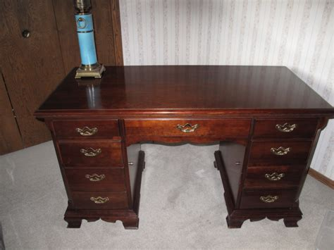 cherry wood desk desk collectable thomasville executive cherry wood
