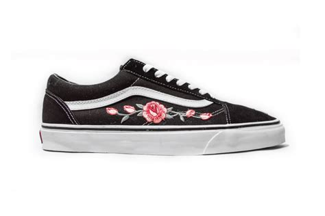 amac custom vans skool custom is a floral pink hypebae
