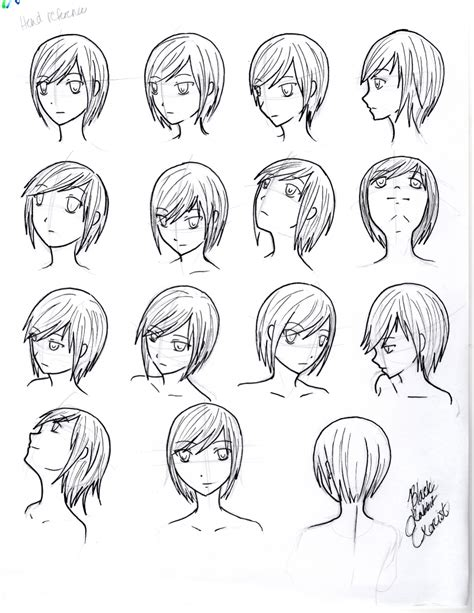 how to draw heads at different angles reference angles and perspective by