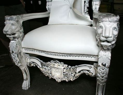 white throne chair throne chair in white with silver leaf eloquence is