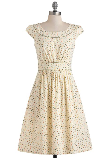 Day Dress by Emily And Fin Day After Day Dress In Leaves Mod Retro