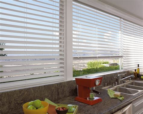 designer kitchen blinds white wood blinds contemporary kitchen new york by