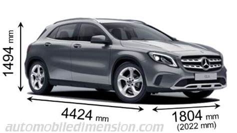 mercedes benz gla 2017 dimensions, boot space and interior