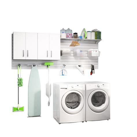 Laundry Room Accessories Storage Flow Wall Modular Laundry Room Storage Set With Accessories In White 2 Fcs 4812 2w The