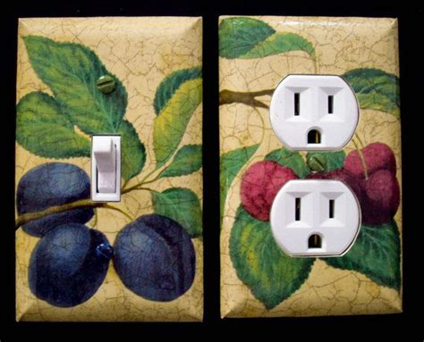 Kitchen Light Switch Covers Single Light Switch Cover And Outlet Cover Plates Kitchen Fruit Theme