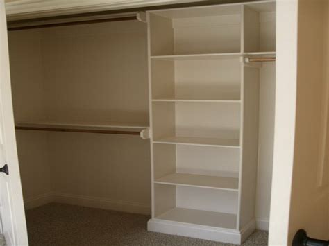 the modern wood closet shelving ideas advices for