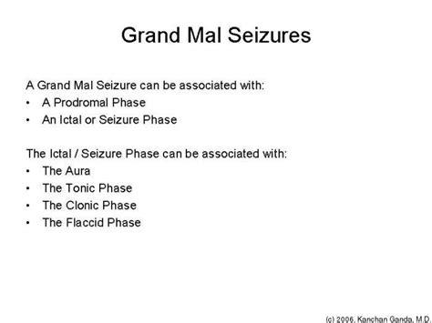 grand mal seizure 399 medicine i 2006 tufts opencourseware