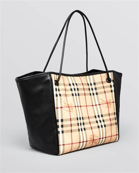 Burberry Tote by Lyst Burberry Tote Haymarket Knots Small Canterbury In Black