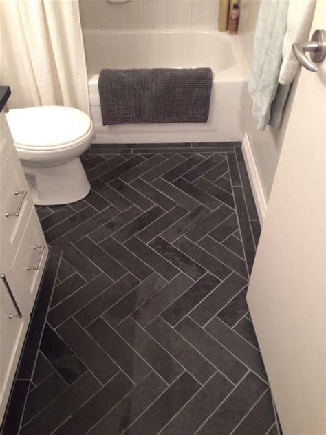 herringbone tile floor bathroom love this patterns and bath on pinterest