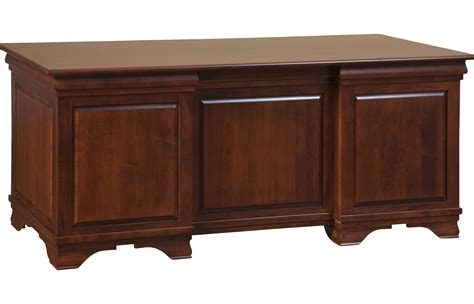 Solid Wood Office Desk  Morgan Double Pedestal Executive