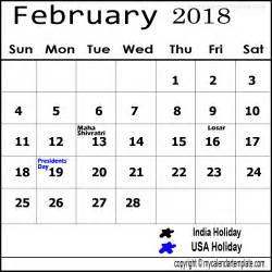 Jan 2018 Telugu Calendar February 2018 Calendar With Holidays Calendar Designs