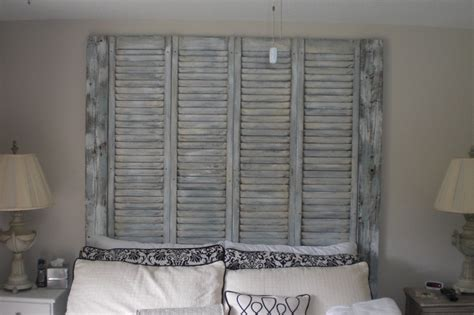old shutters for headboard old shutters used as a headboard things i love