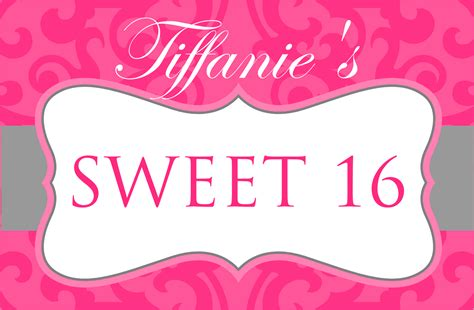 design banner sweet 17 signatures by sarah sweet sixteen stationery for lien