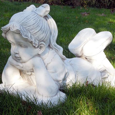 statue per giardino bimba che legge produzione e vendita statue da giardino