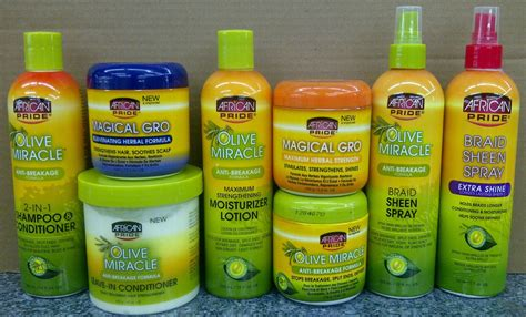 Olive Hair Shoo pride olive miracle conditioning hair products