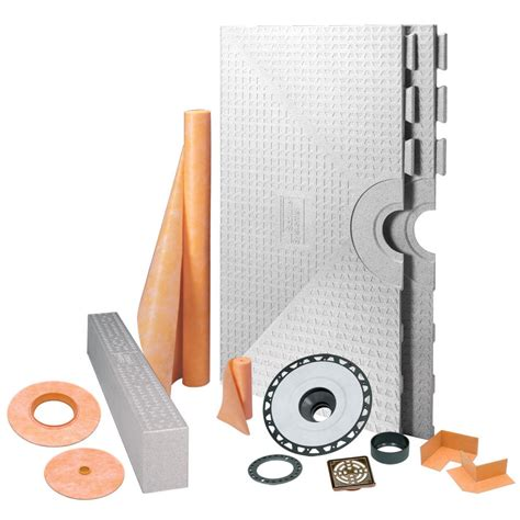 shop schluter systems kerdi shower kit 48 in x 48 in oil bronze abs at lowes com