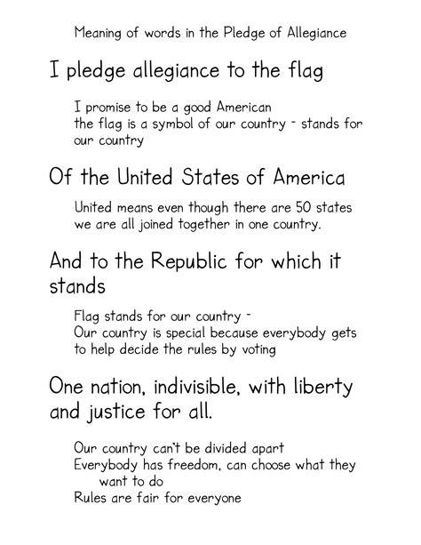 printable lyrics to the pledge of allegiance free coloring pages of pledge of allegiance