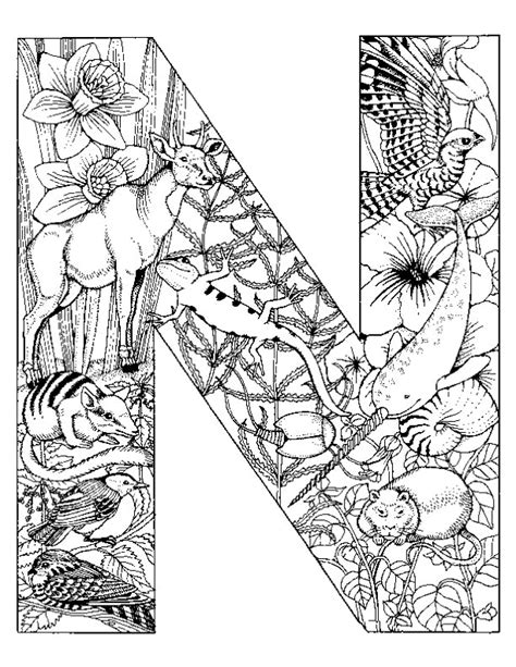 alphabet coloring pages n coloring page alphabet animal n coloring me