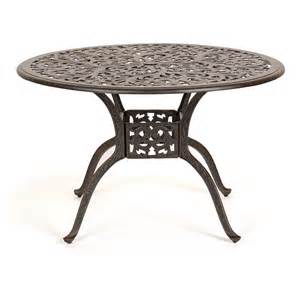 Aluminum Patio Dining Table Florence Cast Aluminum Outdoor Dining Table 48 Inch Ca 777 A Cozydays