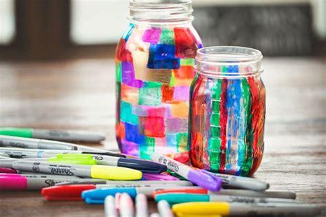 colorful jars colorful diy sharpie marker jar holder pretty my