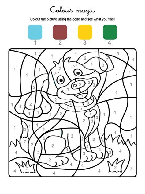 dibujos de navidad para colorear en ingles colour by numbers un perrito dibujos para colorear