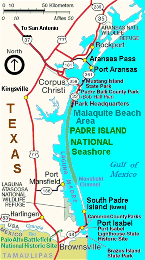 south padre island map file map padre island towns gif