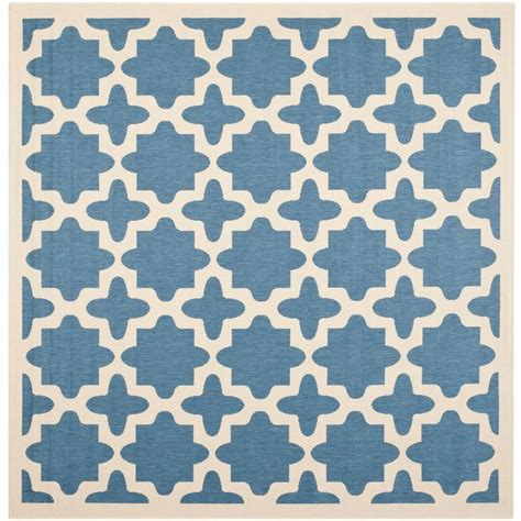 square indoor outdoor rug safavieh courtyard blue beige 4 ft x 4 ft square indoor outdoor area rug cy6913 243 4sq the