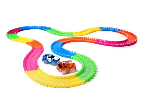 light up race track neotracks flexible race set your choice kids woot