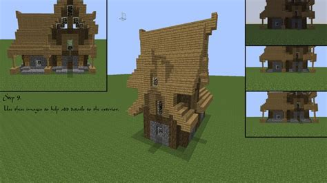 minecraft house designs tutorials minecraft medieval house tutorial minecraft pinterest tutorials
