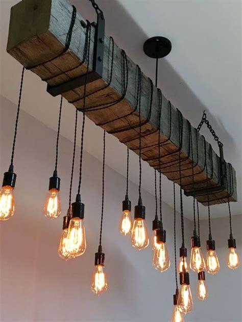 Beam Light Fixture Modern Farmhouse Cool Lighting And Edison Bulbs On